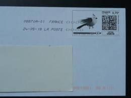 Oiseau Bird Perruche Timbre En Ligne Sur Lettre (e-stamp On Cover) TPP 3933 - Parrots