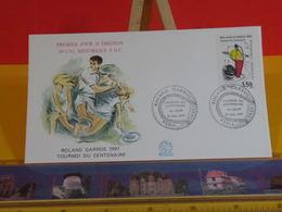 Roland Garros Tournoi - Paris - 24.5.1991 FDC 1er Jour N°1745 - Coté 3€ - FDC