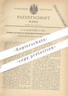 Original Patent - H. W. Schlotfeldt , Kiel , 1884 , Anzeigen Von Geschwindigkeitsveränderung | Tempomat , Motor !! - Historische Dokumente