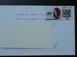 Film Star Wars Cinema Timbre En Ligne Sur Lettre (e-stamp On Cover) TPP 3953 - Kino