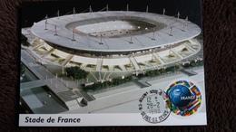 CPM STADE DE FRANCE CARTE MAXIMUM TIMBRE FRANCE 1998 COUPE DU MONDE PHOTO D QUENTIN - Stades