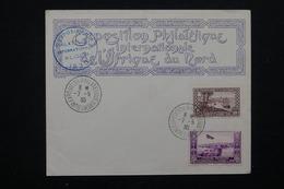 ALGÉRIE - Enveloppe De L 'Exposition Philatélique De De L 'Afrique Du Nord En 1930 , Oblitération , Vignette - L 22672 - Algérie (1924-1962)