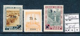 BELGIAN CONGO COB 225/227 MNH - Congo Belge