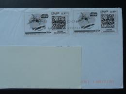 Film Star Wars Cinema Timbre En Ligne Sur Lettre (e-stamp On Cover) TPP 3995 - Kino