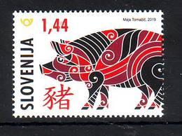 Slovenia 2019 Y Chinese Horoscope Year Of The Pig MNH - Slovenia