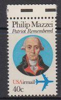 USA 1992 Philip Mazzei 1v ** Mnh (41837) - Verenigde Staten