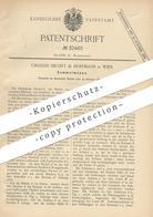 Original Patent - Charles Siegert & Hoffmann , Wien , 1884 , Sammelmappe | Mappe | Buchbinder , Buch , Buchbinderei !! - Historische Dokumente