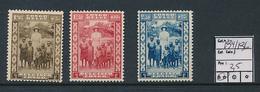 BELGIAN CONGO COB 194/196 MNH - Congo Belge