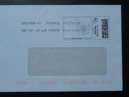Fleur De Pissenlit Timbre En Ligne Sur Lettre (e-stamp On Cover) TPP 4034 - Végétaux