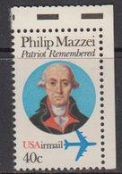 USA 1992 Philip Mazzei 1v (corner) ** Mnh (41837A) - Verenigde Staten