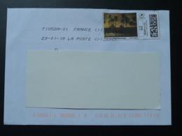 Pyramides De Guizeh Timbre En Ligne Sur Lettre (e-stamp On Cover) TPP 4044 - Egyptologie
