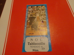 BIGLIETTO INGRESSO PLAZA DE TOROS DE VITORIA-1977 - Biglietti D'ingresso