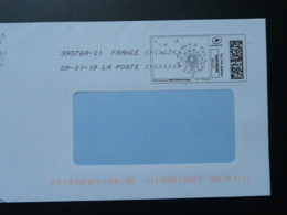Fleur De Pissenlit Timbre En Ligne Sur Lettre (e-stamp On Cover) TPP 4052 - Végétaux
