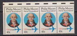 USA 1992 Philip Mazzei 1v Strrip Of 4 ** Mnh (41837C) - Verenigde Staten