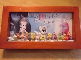 Série De Fèves Complète Dans Un Cadre En Bois : Les Zupers Amis (  Bob L'éponge, Jimmy Neutron , Télétubbies ) - Cartoons
