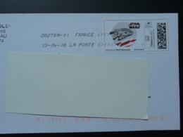 Film Star Wars Cinema Timbre En Ligne Sur Lettre (e-stamp On Cover) TPP 4078 - Kino