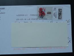 Film Star Wars Cinema Timbre En Ligne Sur Lettre (e-stamp On Cover) TPP 4089 - Kino