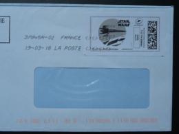 Film Star Wars Cinema Timbre En Ligne Sur Lettre (e-stamp On Cover) TPP 4093 - Kino