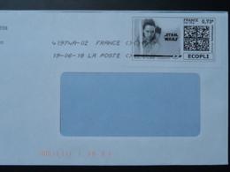 Film Star Wars Cinema Timbre En Ligne Sur Lettre (e-stamp On Cover) TPP 4122 - Kino