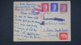Entier Du Camp Siegmar-Schönau (satellite Du KZ De Flossenbürg ) Ouvriere De L' Usine Wanderer Werke AG Aout 1942 - Marcophilie (Lettres)