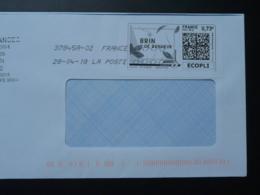 Muguet Brin De Bonheur Lily Of The Valley Timbre En Ligne Sur Lettre (e-stamp On Cover) TPP 4140 - Végétaux