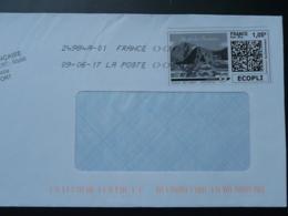 Ile De La Réunion Timbre En Ligne Sur Lettre (e-stamp On Cover) TPP 4157 - France