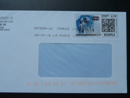 Film Star Wars Cinema Timbre En Ligne Sur Lettre (e-stamp On Cover) TPP 4205 - Kino