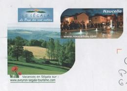 NAUCELLES AVEYRON - PAYSAGE, COQUELICOTS, VUE DE LA VILLE - PAP ENTIER POSTAL 2008, VOIR LES SCANNERS - Vacances & Tourisme