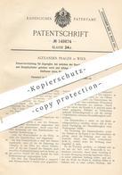 Original Patent - Alexander Prager , Wien , 1902 , Steuerung Für Zugregler | Dampfmaschine | Dampfmaschinen !!! - Historische Dokumente