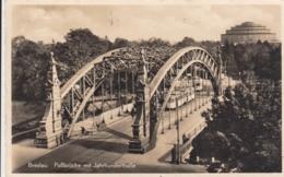 AK - (Polen) BRESLAU - Passbrücke (most Zwierzyniecki) Mit Jahrhunderthalle 1940 - Polen