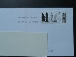 échecs Chess Timbre En Ligne Sur Lettre (e-stamp On Cover) TPP 4241 - Echecs