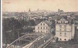 AK - (Tschechien) TURNOV - Blick Zum Stadtzentrum Mit Brücke über Den Fluss Jezera 1916 - Tschechische Republik