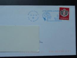 02/02/2010 Lutte Contre La Pauvreté Flamme Monaco Sur Lettre Postmark On Cover - Storia Postale