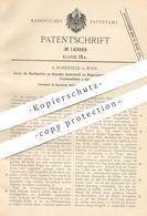 Original Patent - A. Rosenfeld , Wien , 1902 , Spannwerk An Bogenanleger Für Presse , Falzmaschine | Pressen | Papier !! - Historische Dokumente