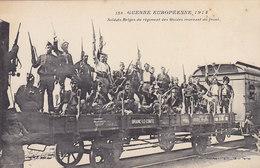 CPA - GUERRE EUROPEENNE 1914 - BRAINE-LE-COMTE - Sldats Belges Du Régiment Des Guides. - Oorlog 1914-18