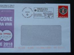 12/09/2018 Pavillon Bosio Flamme Monaco Sur Lettre Postmark On Cover - Poststempel