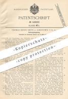Original Patent - Thomas Henry Smith , Jamestown , USA , 1903 , Reibungskupplung | Kupplung | Eisenbahn , Lokomotive - Historische Dokumente