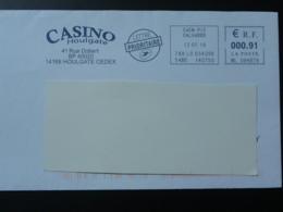 Casino Houlgate 14 Calvados - EMA Sur Lettre Slogan Meter On Cover - Jeux