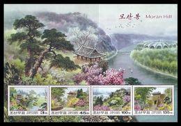 North Korea 2008 Mih. 5383/86 (Bl.708) Moran Hill MNH ** - Corée Du Nord