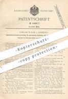 Original Patent - Edmund W. Suse , Hamburg  1902 , Quecksilberkontakt Für Galvanische Elemente Mit Elektroden | Batterie - Historische Dokumente