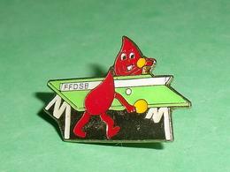Pin's Sports :  FFDSB , Ping Pong   TB1HH - Tennis De Table