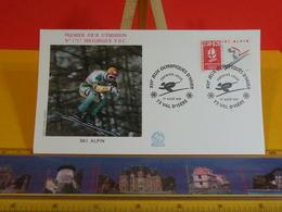 Jeux Olympiques D'Hiver ( Ski Alpin) - 73 Val D'Isère - 17.8.1991 FDC 1er Jour N°1757 - Coté 3€ - FDC