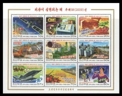 North Korea 2009 Mih. 5533/41 Year In Which Ideal Being Realized. Football. Space. Automobile. Locomotive. Fishes MNH ** - Korea, North