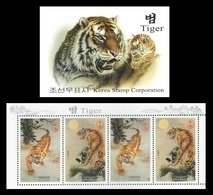 North Korea 2010 Mih. 5544/45 Fauna. Year Of The Tiger (booklet) MNH ** - Korea, North