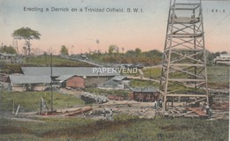 Trinidad  Erecting A Derrick On Oilfield  T159 - Trinidad