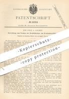 Original Patent - Joh. Uhle , Aachen , 1883 , Formen Der Haken Vom Kratzenbeschlag | Metall , Draht , Blech !!! - Historische Dokumente
