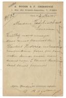 Repiquage Privé A.ROGER & F. CHERNOVIZ (Téléphone En 1895) Pour Louvain Belgique. PARIS 26 Section De Levée GARE DU NORD - Marcophilie (Lettres)
