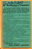 Man954, Testament De Guillaume L'Assassin, Circulée 1914 Sous Enveloppe - Oorlog 1914-18