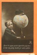 Man958, Garçon, Casquette De Militaire,Képi Des Poilus, Globe Terrestre, Mappe Monde, 2300, Circulée 1914 Sous Enveloppe - Phantasie