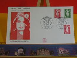 Marianne De Louis Briat - Paris - 19.8.1991 FDC 1er Jour N°1758 - Coté 3€ - FDC